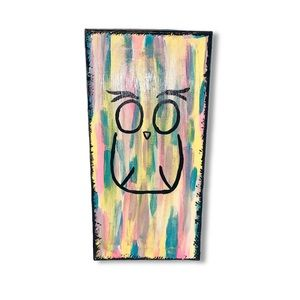 Handmade Abstract Owl Silhouette Painting